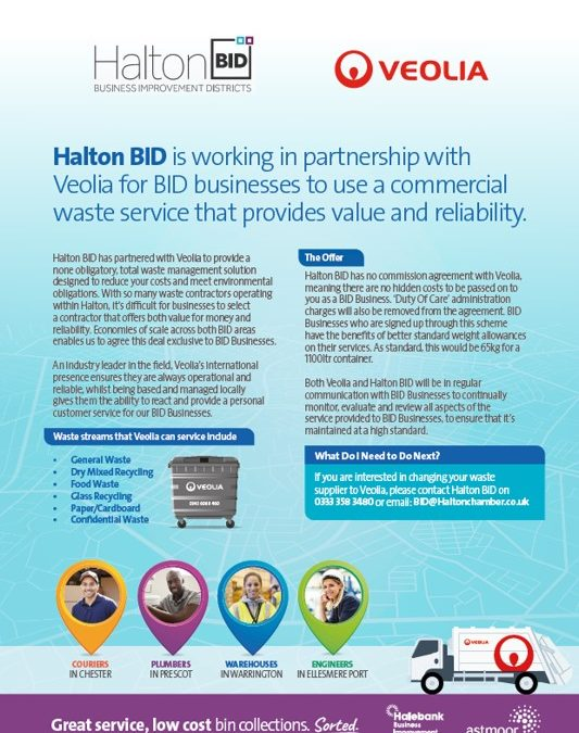 Halton BID has partnered with Veolia